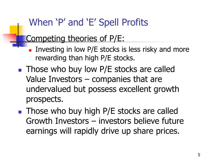 When 'P' and 'E' Spell Profits