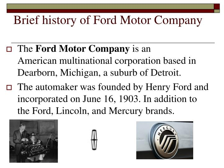 the ford motor company was founded