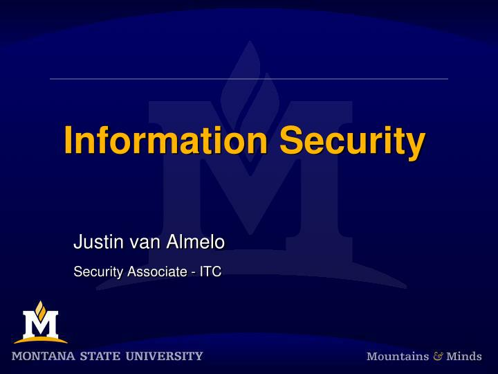 information security n.