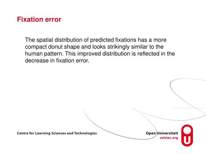 Fixation error