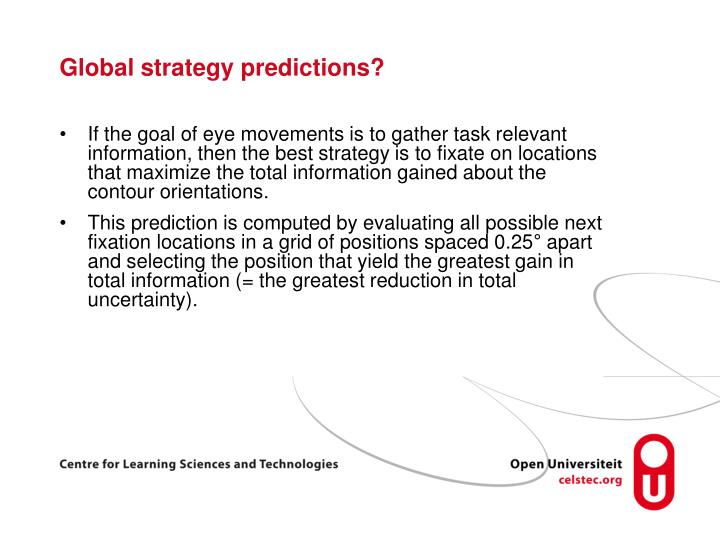 Global strategy predictions?