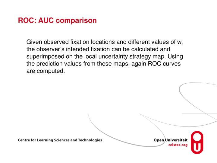 ROC: AUC comparison