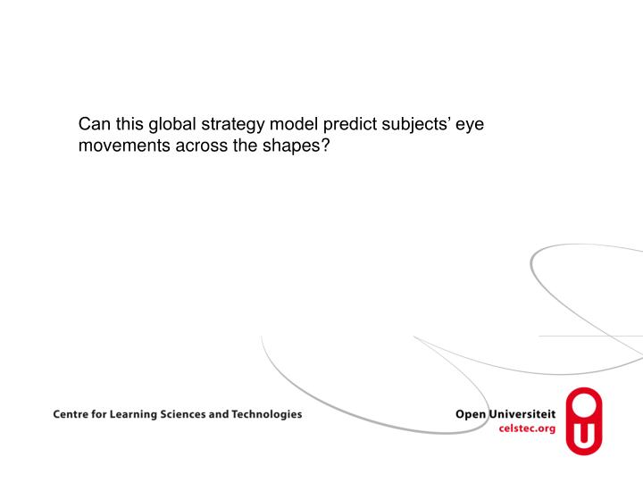 Can this global strategy model predict subjects' eye movements across the shapes?
