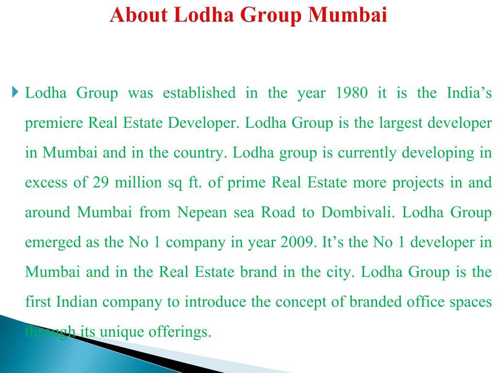 About Lodha