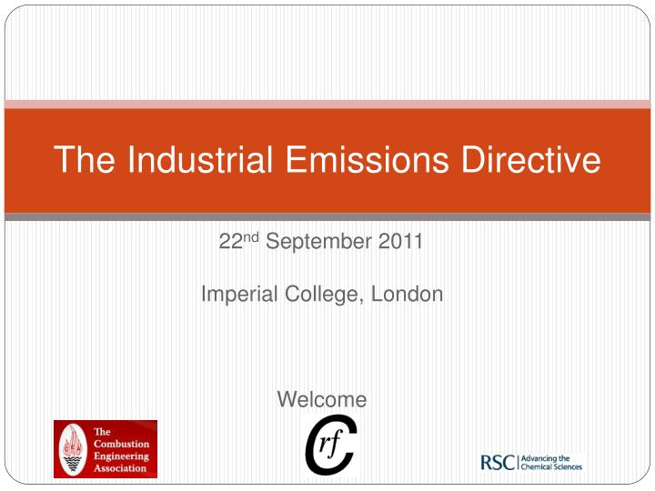 the industrial emissions directive n.