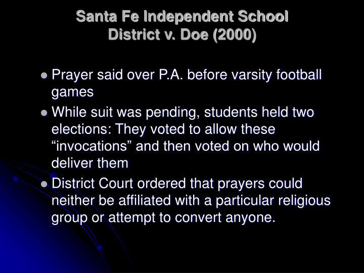 santa fe independent school district v doe