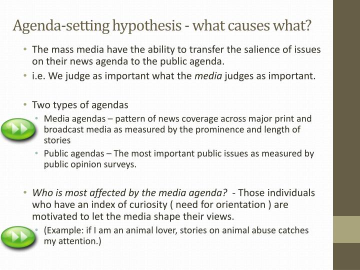 hegemony and role of media in agenda setting media essay Full-text paper (pdf): the agenda-setting role of the mass media in the shaping of public opinion.