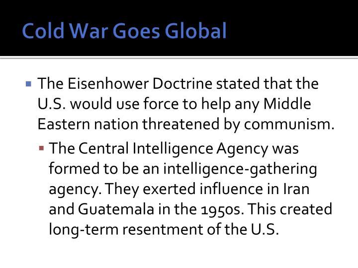 Cold War Goes Global