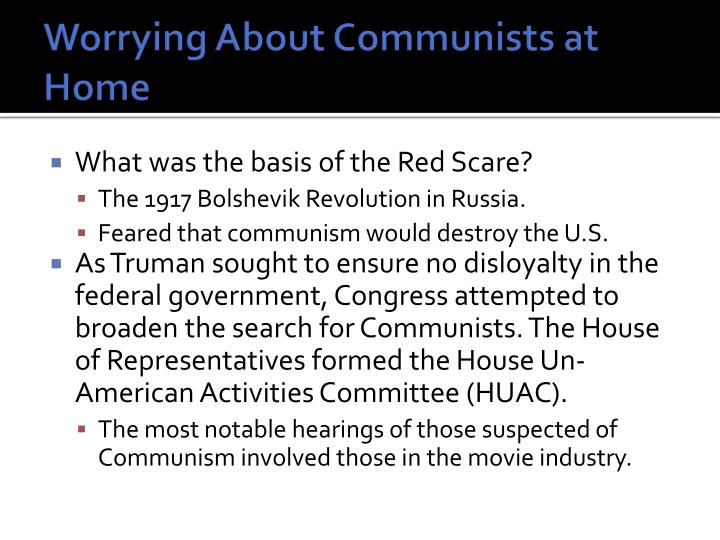 Worrying About Communists at Home