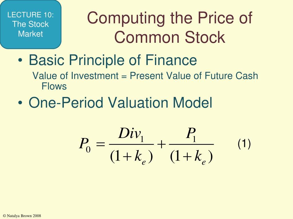 Computing the Price of Common Stock