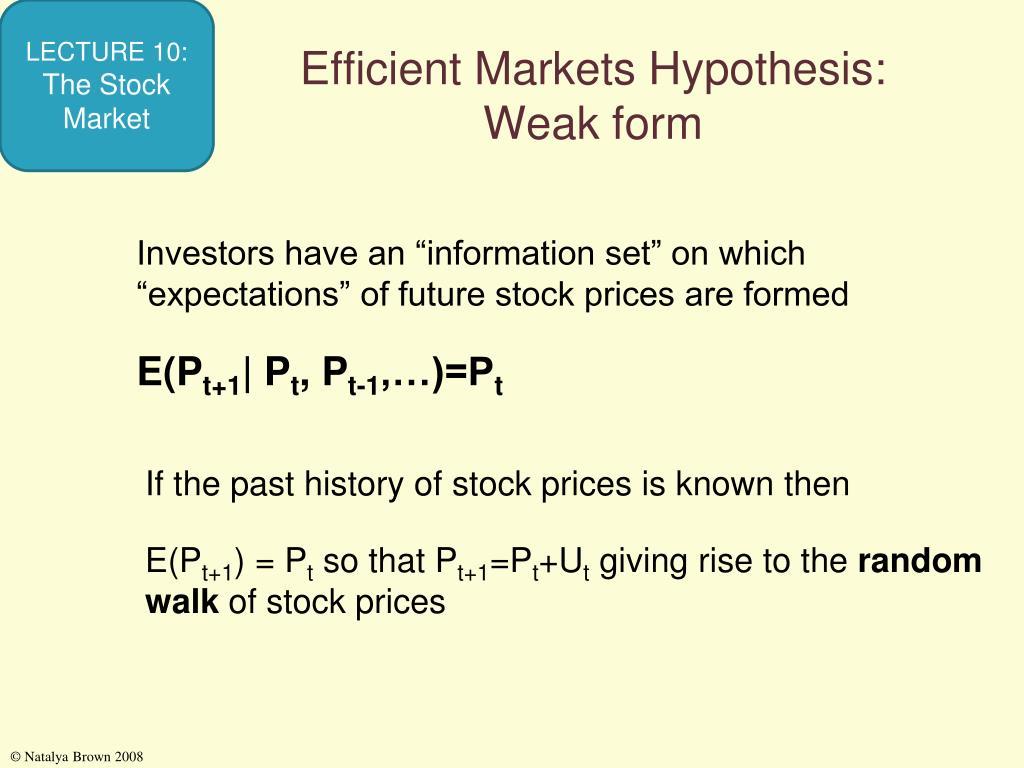 Efficient Markets Hypothesis: