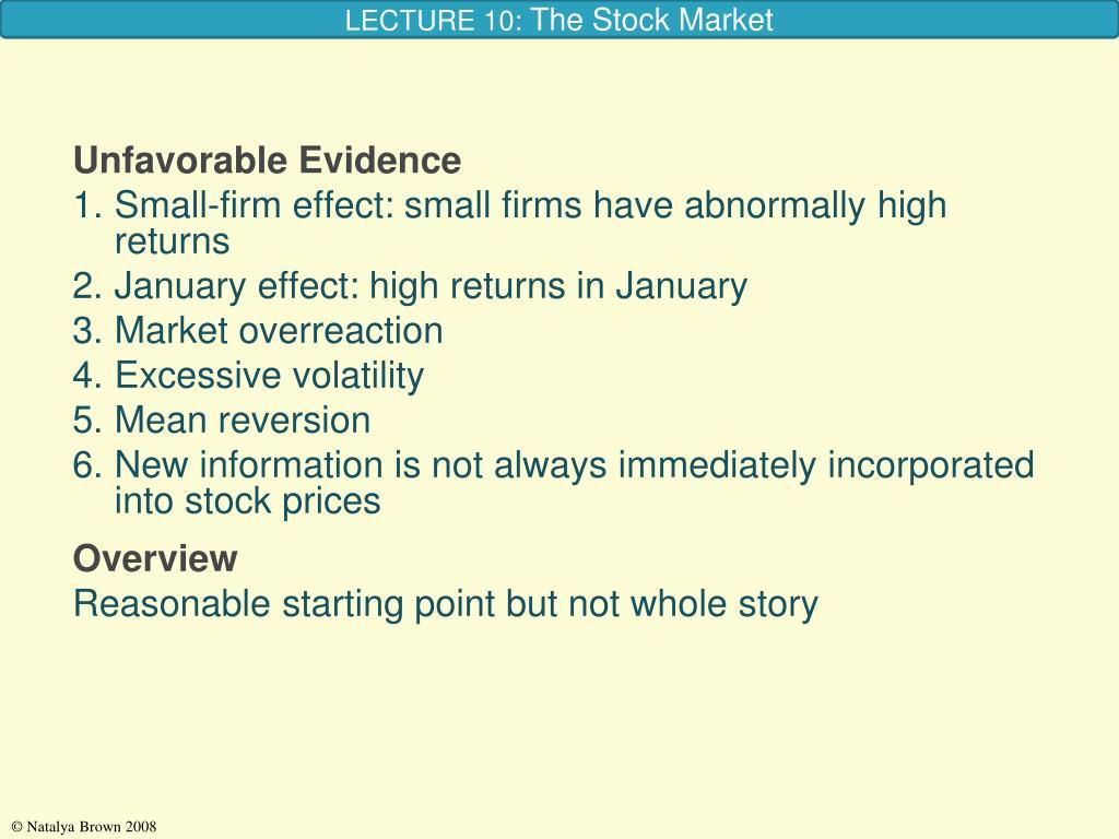 Unfavorable Evidence
