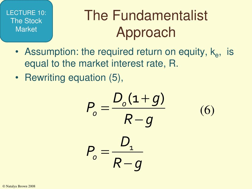 The Fundamentalist Approach