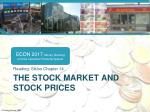 the stock market and stock prices