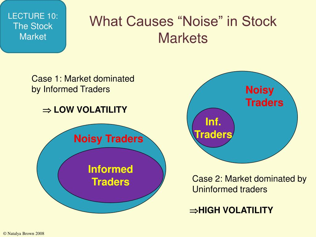 """What Causes """"Noise"""" in Stock Markets"""