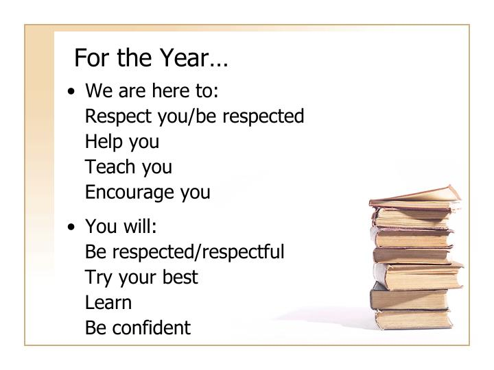 For the Year…