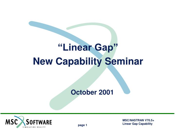 ppt u201clinear gap u201d new capability seminar october 2001 powerpoint rh slideserve com