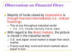 observations on financial flows