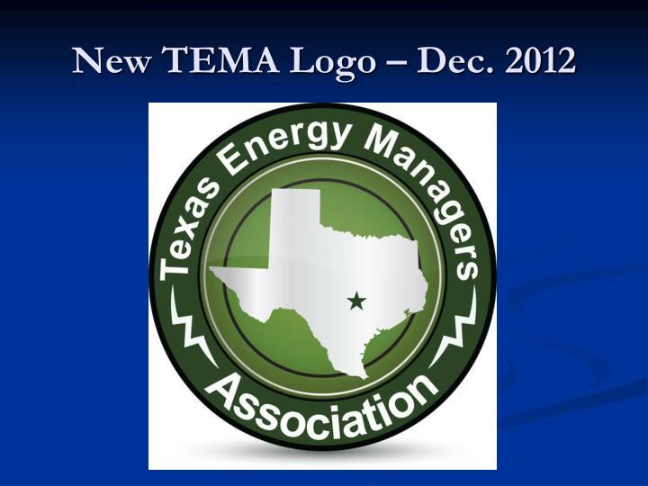 New TEMA Logo – Dec. 2012