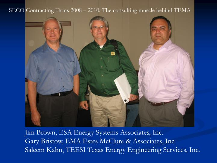 SECO Contracting Firms 2008