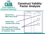 construct validity factor analysis1