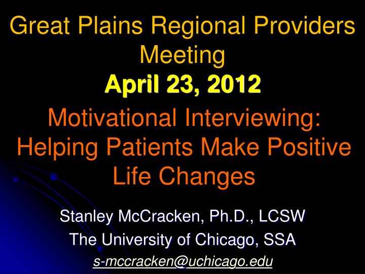 motivational interviewing helping patients make positive life changes n.
