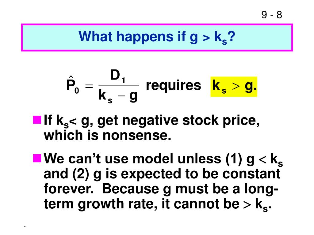 What happens if g > k