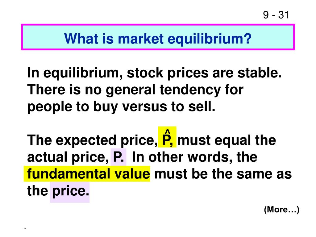 What is market equilibrium?