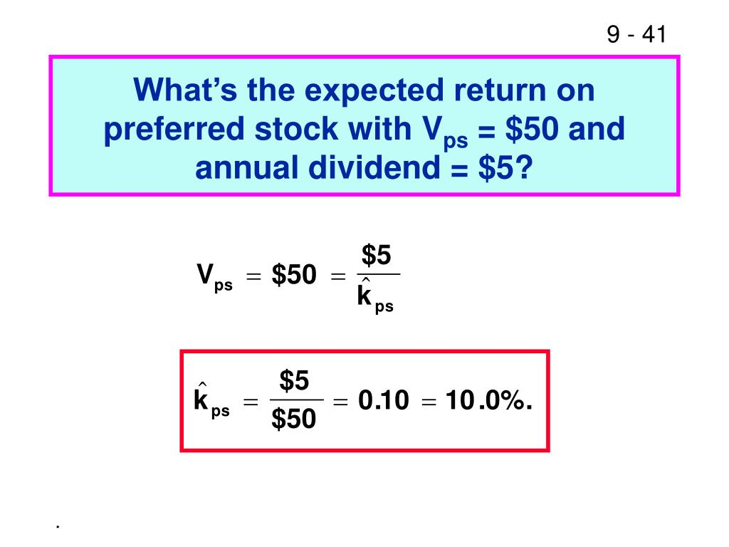 What's the expected return on preferred stock with V