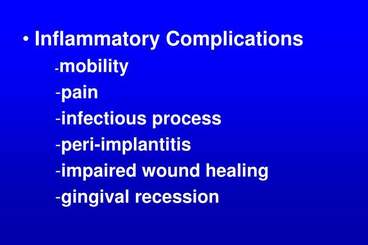 Inflammatory Complications