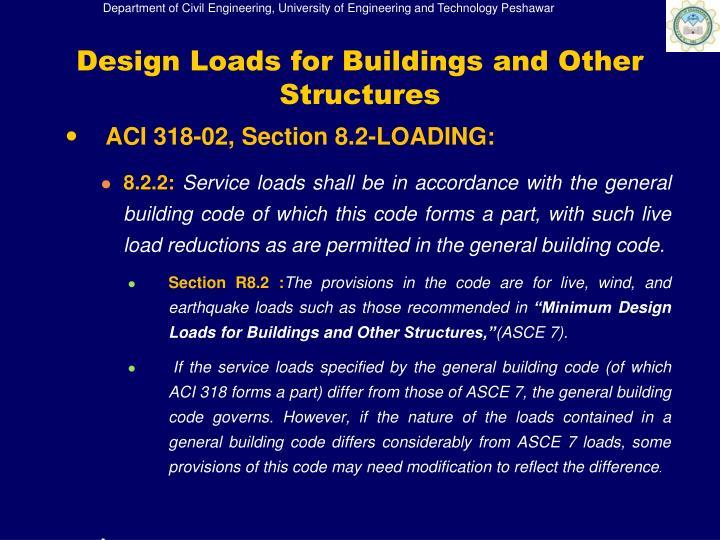 ACI 318-02, Section 8.2-LOADING: