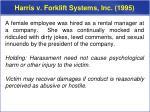 harris v forklift systems inc 1995