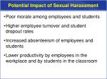 potential impact of sexual harassment1