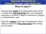 reporting obligations of school employees under dignity act1