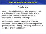 what is sexual harassment9