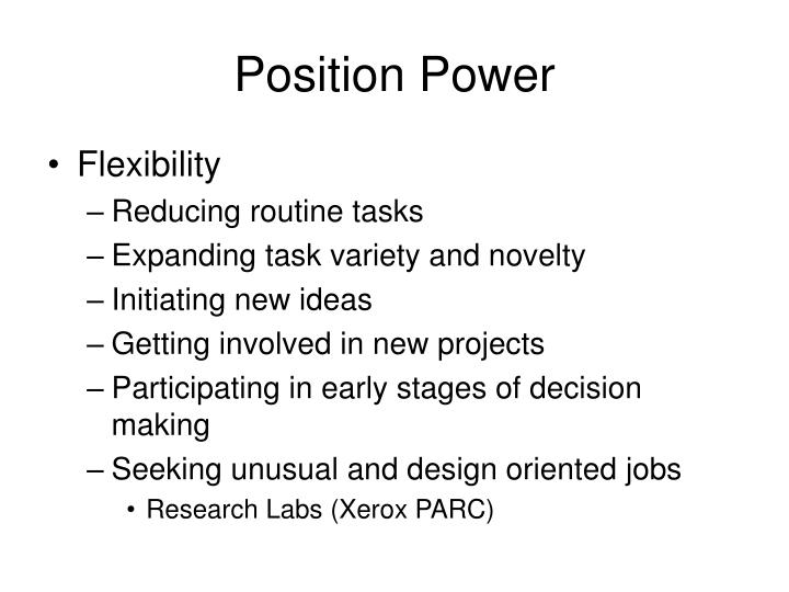 Position Power