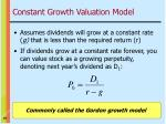 constant growth valuation model