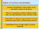rights of common stockholders