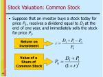stock valuation common stock