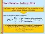 stock valuation preferred stock