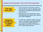 valuing the enterprise free cash flow approach