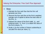 valuing the enterprise free cash flow approach25