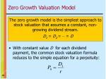 zero growth valuation model
