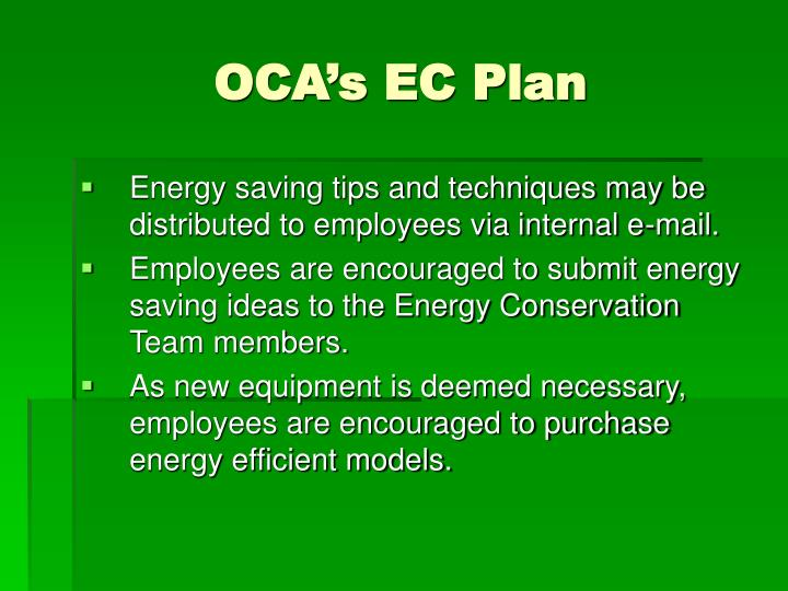 OCA's EC Plan