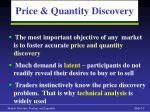price quantity discovery