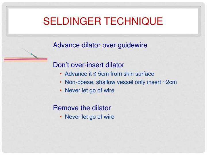 Seldinger technique