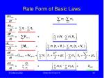 rate form of basic laws1