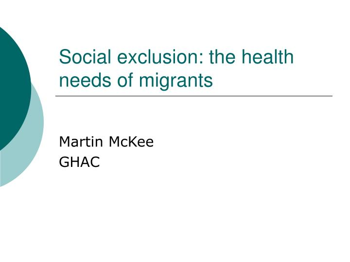 the causes of social exclusion Social exclusion is a relatively new term in british policy - not only referring to poverty and low income but some of their wider causes and consequences the government has defined social exclusion as what can happen when people or areas suffer from a combination of linked problems such as.