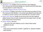 which classifiers