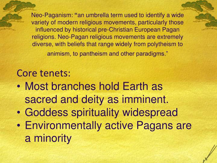 neo paganism paper term